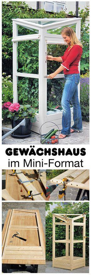 Die 25+ Besten Ideen Zu Altes Fenster Gewächshaus Auf Pinterest ... Gewachshaus Fur Den Garten 12 Selbst Gebaute Gestaltungsideen