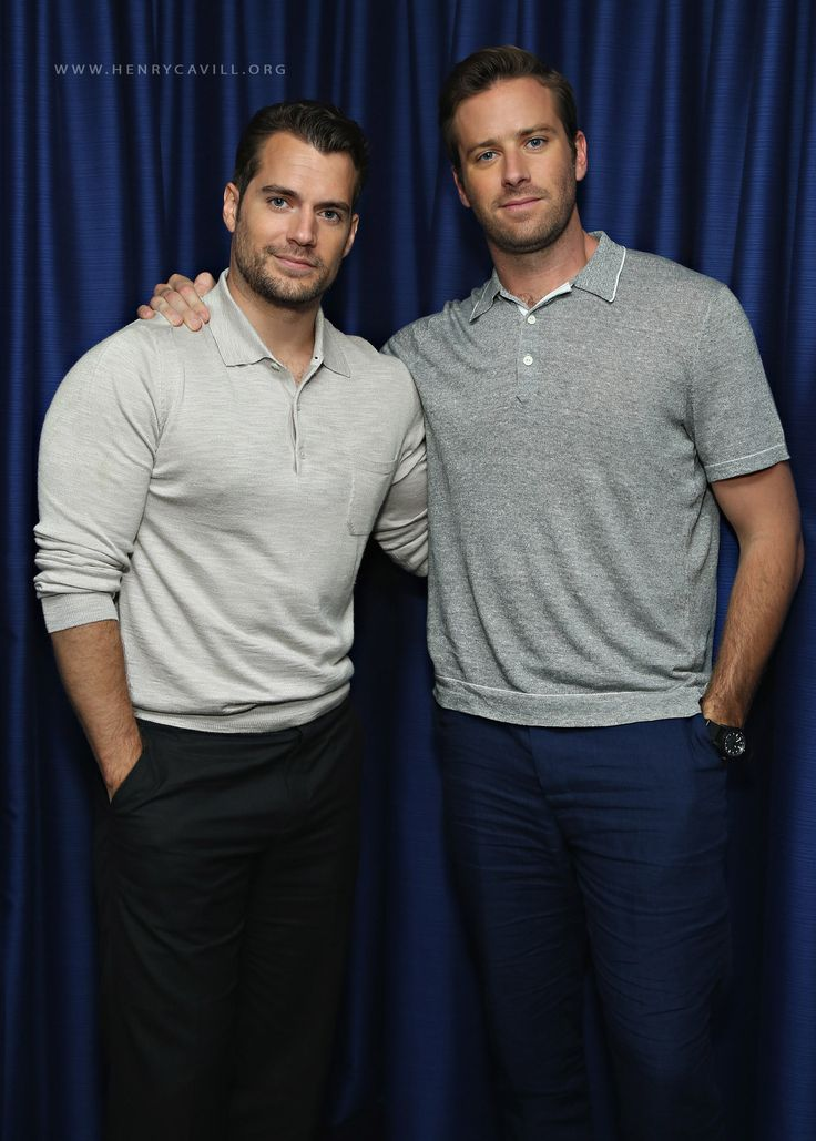 Henry Cavill, Armie Hammer and Guy Ritchie at Sirius XM