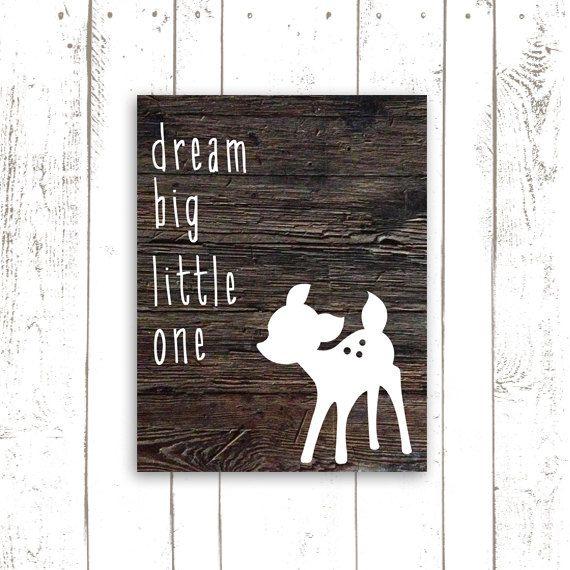 Dream Big Little One Deer Nursery Print by MooseberryPrintables, $5.00