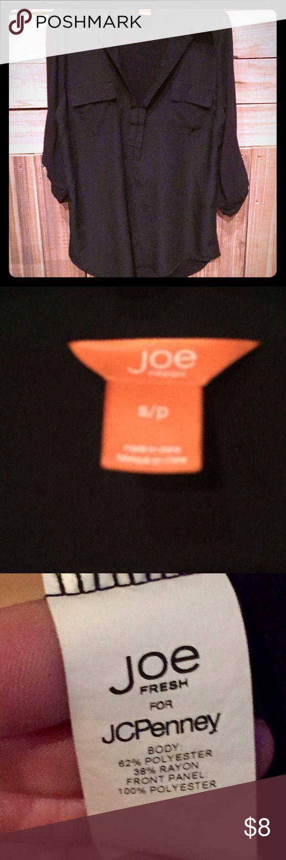 Joe Fresh black 3/4 sleeve blouse Joe Fresh black 3/4 sleeve blouse Joe Fresh Tops Blouses