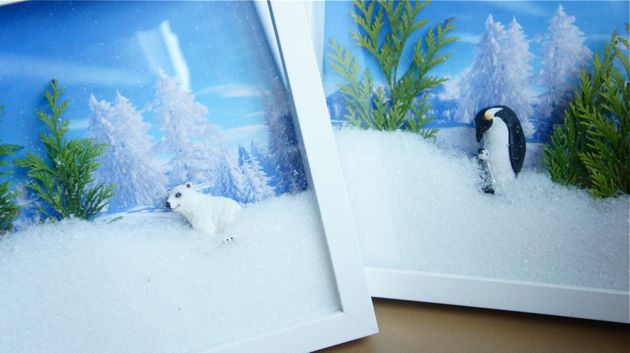3D photoframe winter christma