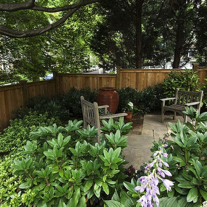 landscaping for small shady back yards houston on backyard fence landscaping id=80477