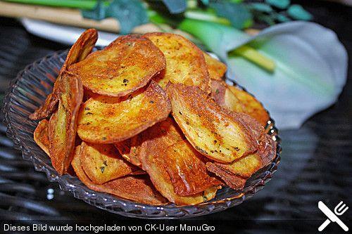 Fettfreie Kartoffelchips, ein tolles Rezept aus der Kategorie Backen. Bewertungen: 40. Durchschnitt: Ø 4,2.