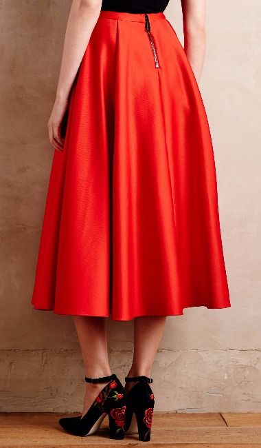 OMG the color is devastatingly gorgeous: Crimson Party Skirt