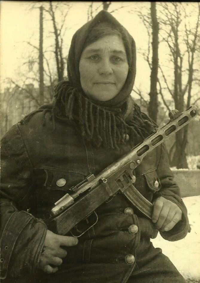 Russian partisan-woman, 1941-1942.