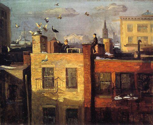 birdcagewalk:    peira:alongtimealone:John Sloan: Pigeons (1919) by *Huismus
