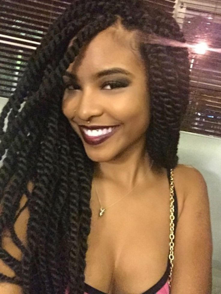 Love her twisted braids.