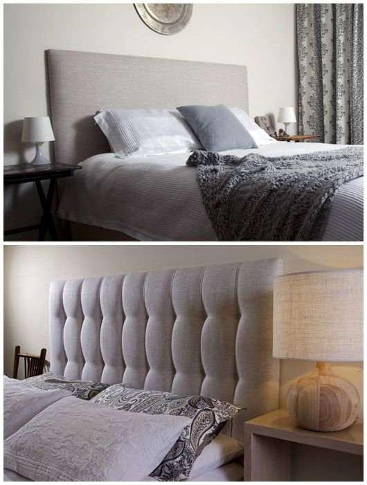 I love the look of an upholstered bedhead.  It adds height to the bed, is practical, and adds another layer to the bedding and cushions. This buttoned bedhead is a beautiful piece of detailing.