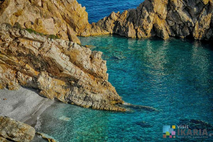 Prioni beach in Ikaria. Dive in to its emerald waters