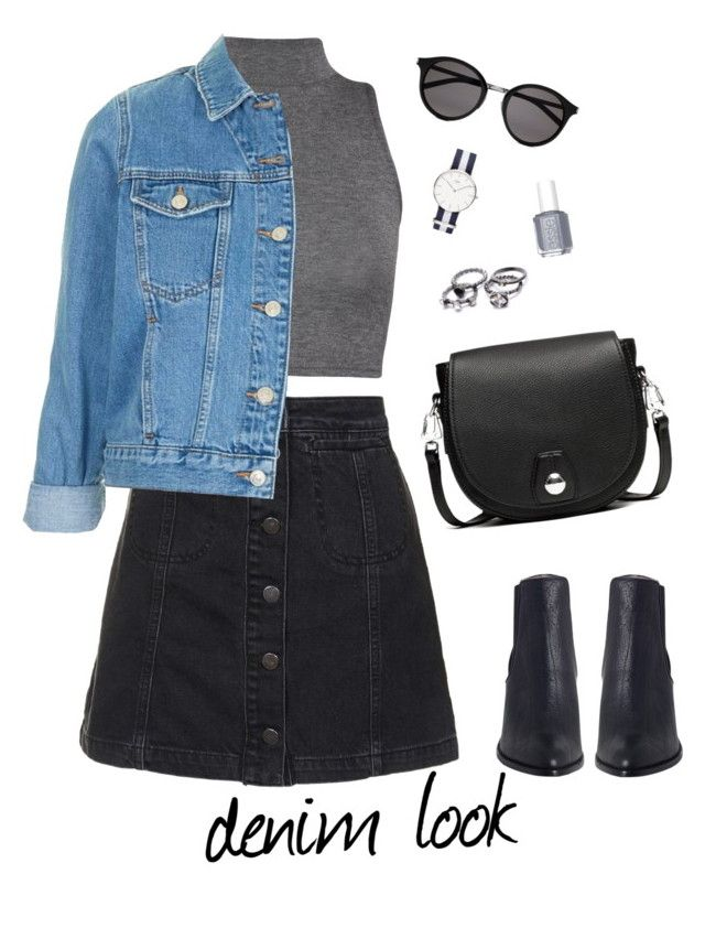 """Untitled #41"" by brandonaddict on Polyvore featuring Topshop, WearAll, Yves Saint Laurent, rag & bone, Essie, Spring and denim"