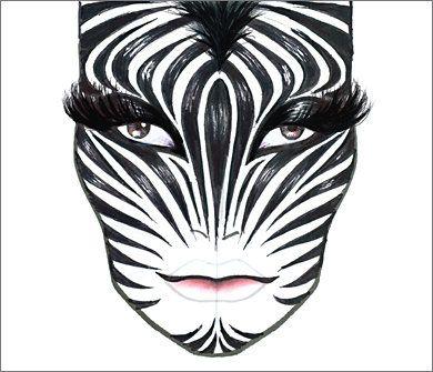 zebra halloween makeup