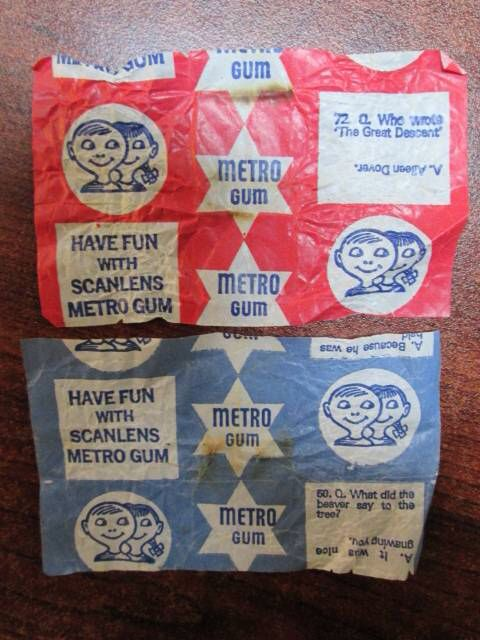 Metro gum wrappers can fetch up to $1.500,00 in any condition now in 2014