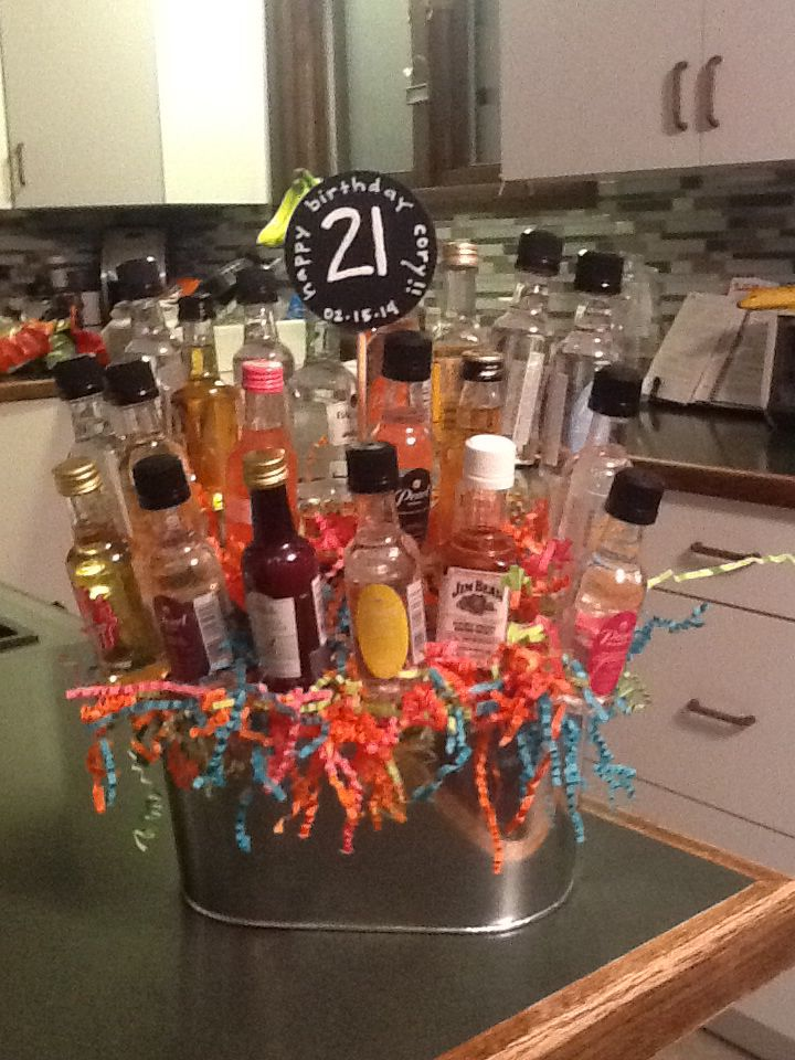 A Birthday Surprise For My 21 Year Old Nephew Mini Bottle Bouquet