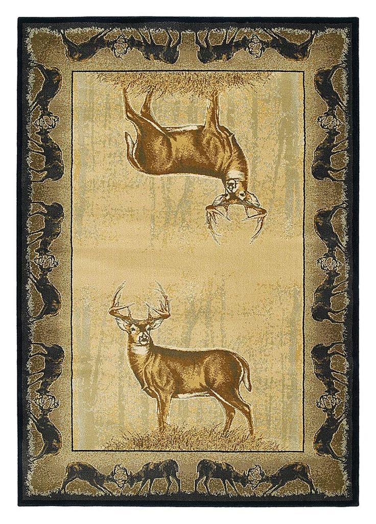 Buckwear Wildlife-Themed Area Rugs - Believe Deer | Bass ...