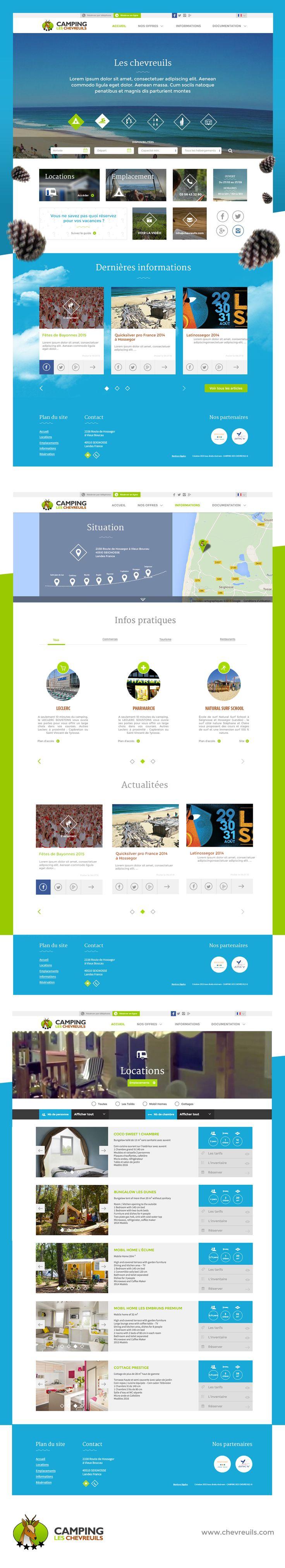 Site web du camping les chevreuils. www.chevreuils.com  Webdesign : Robin Lopez Développement : Benoit Vo-Van  #webdesign #ux #ui #site #web