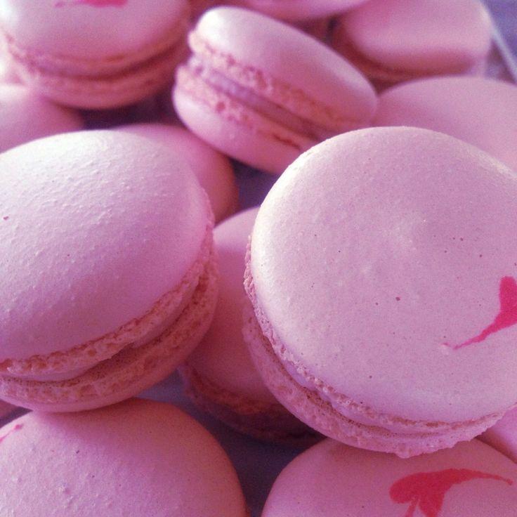 Strawberry Macarons. #baking #strawberry #macaron