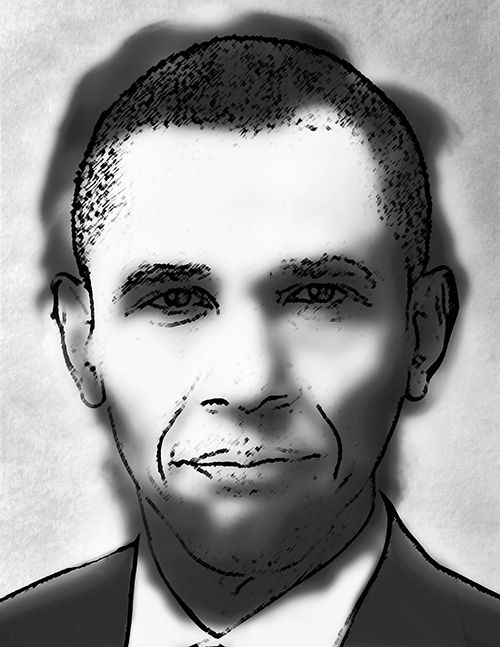 Barrack Obama Optical Illusion...Or Is It? - http://www.moillusions.com/barrack-obama-optical-illusion/