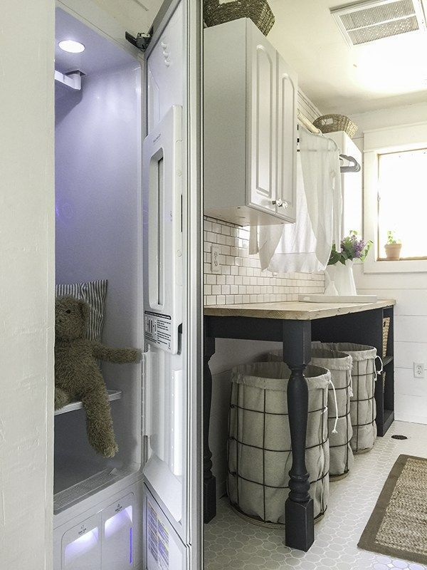 This LG Styler is the icing  on the cake in this whole room laundry room remodel.  Courtesy of Lowes and LG.   Love them!