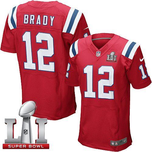 nike patriots tom brady red alternate super bowl li 51 mens stitched nfl elite jersey and nfl jersey outfits