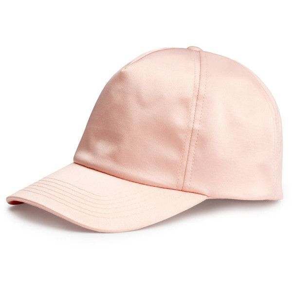 H&M Satin cap (£5) ❤ liked on Polyvore featuring accessories, hats, cap, h&m, hair, pink, h&m hats, satin cap, satin hat and pink hat