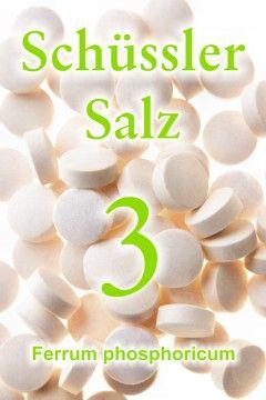 Das Schüssler Salz Nr. 3, Ferrum phosphoricum, hilft, den Eisenmangel auszugleichen. Es unterstützt die Sauerstoffzufuhr und therapiert Entzündungen im akuten Stadium.