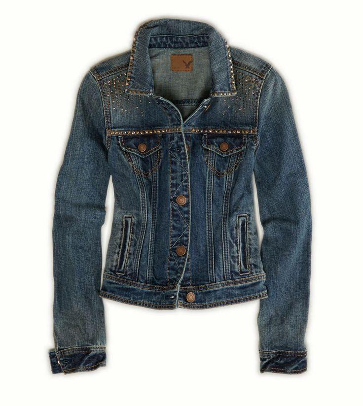 AE Studded Denim Jacket
