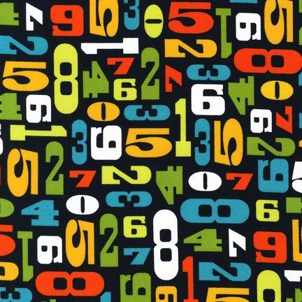 Numbers in Citrus Modern by Robin Zingone Robert by FabricBubb