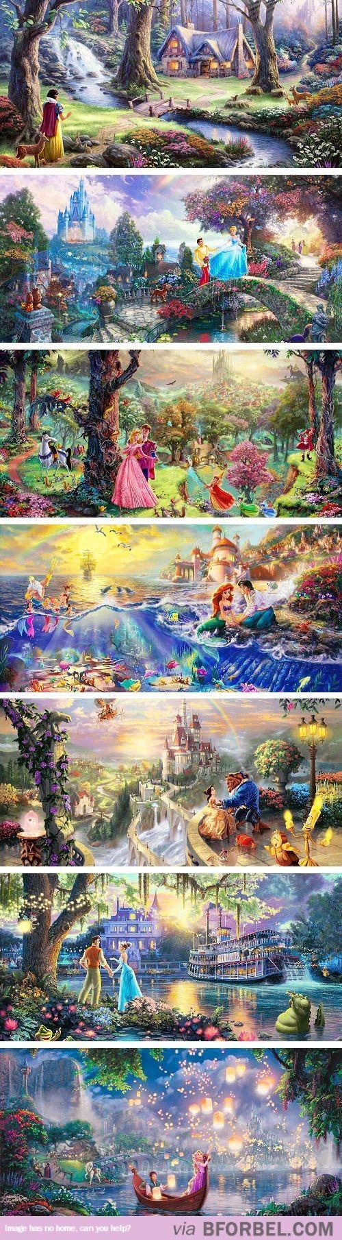 7 Disney Paintings…