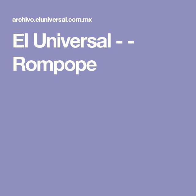 El Universal - - Rompope