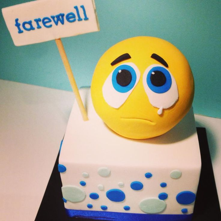 Farewell Cake for a Colleague leaving work today. I couldn't think of what to do, so I made an emoticon Cake.