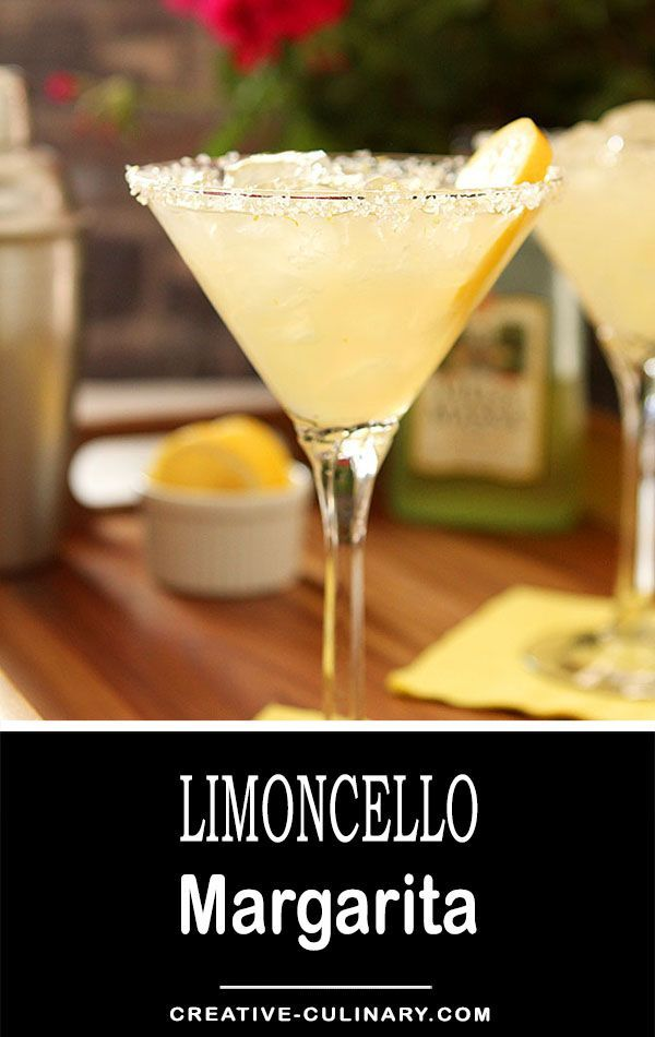 Definitely with some pucker power; this Limoncello Margarita is the perfect summer libation! via @creativculinary #limoncello #margarita #tequila
