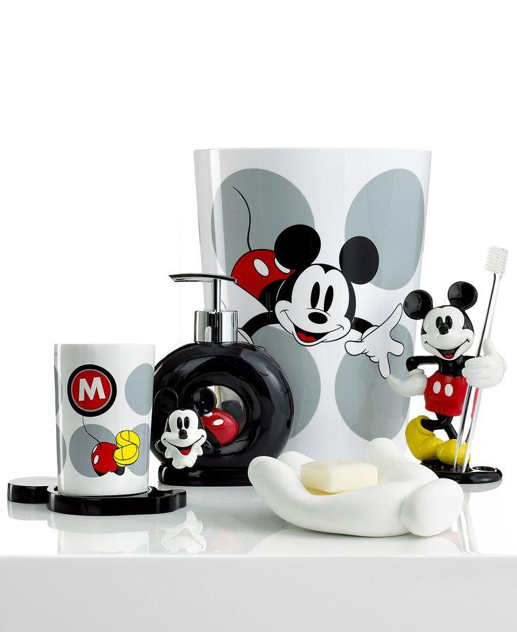 Disney Bath Accessories, Disney Mickey Mouse Toothbrush Holder - Bathroom Accessories - Bed & Bath - Macy's