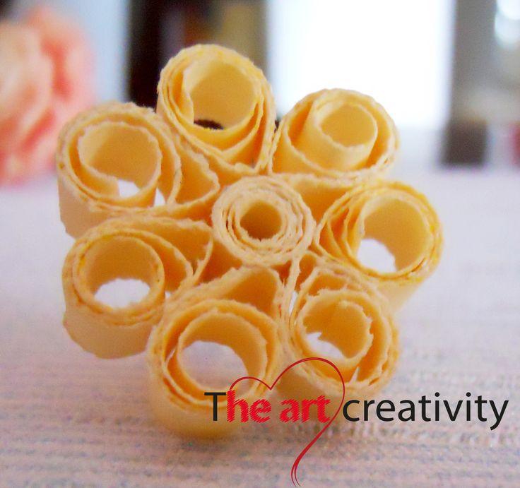 Orecchino realizzato con la tecnica del quilling.  #paper #orecchini #handmade #quilling
