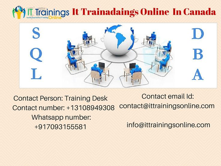 It Trainings Online is the best training institute providing SQL DBA Online Training,We are providing Online Training  Realtime Projects.SQL DBA Courses with LIVE Online Training,. Classroom Training and Video Trainings from It Trainings Online. Practical training sessions with Free LIVE Server Access. Call Us more details.
