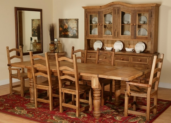 Reclaimed Dining Table Design 1 Shown With Extension Leaves Reclaimed Wood Dining