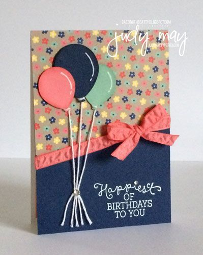 Stampin'Up! Affectueusement vôtre DSP pour la Catty 'Anniversaires' ing CASE-- Judy mai, Just Judy Designs