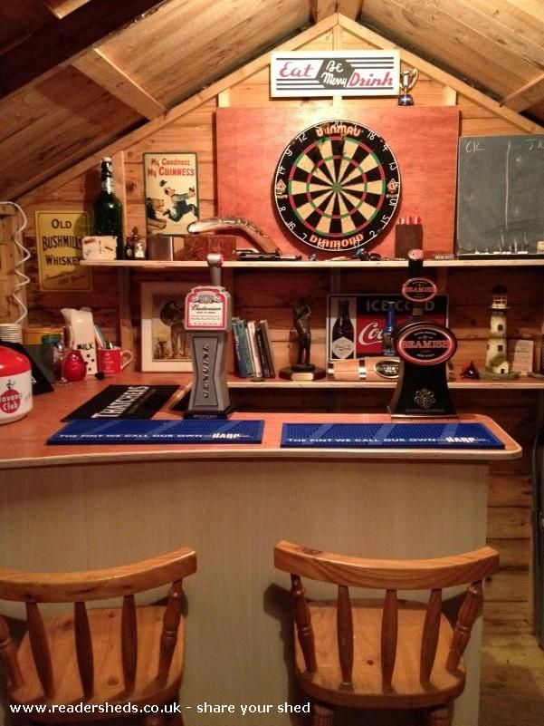 The Monkey Bar, Pub Shed shed from Back garden, Wicklow, Ireland | Readersheds.co.uk
