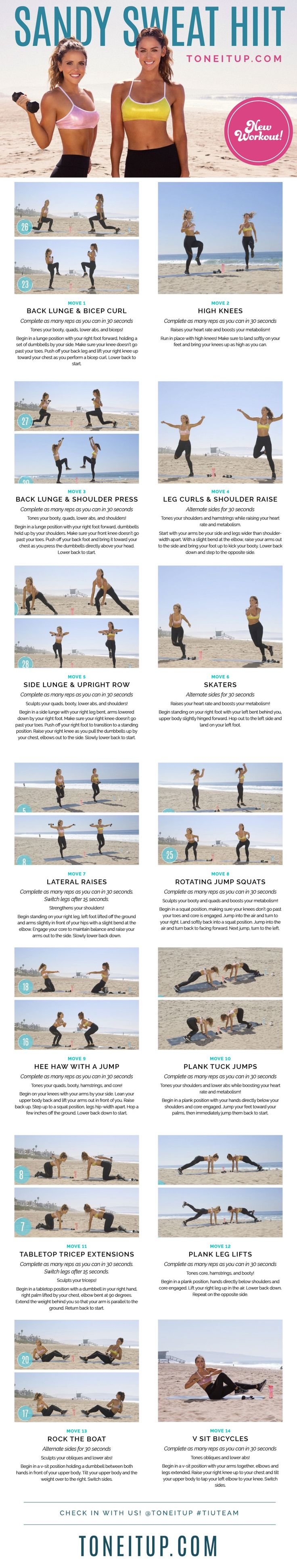 NEW Bikini Series Workout ~ Sandy Sweat HIIT Routine