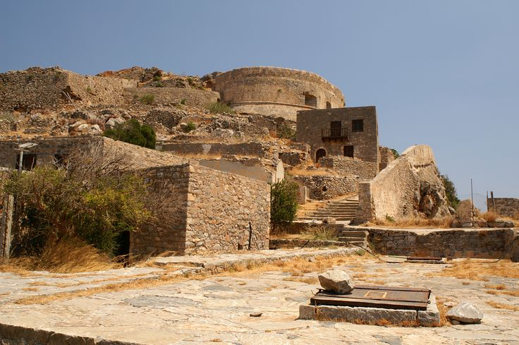#Spinalonga fort, located in the middle of the Gulf of Mirabello. #Crete