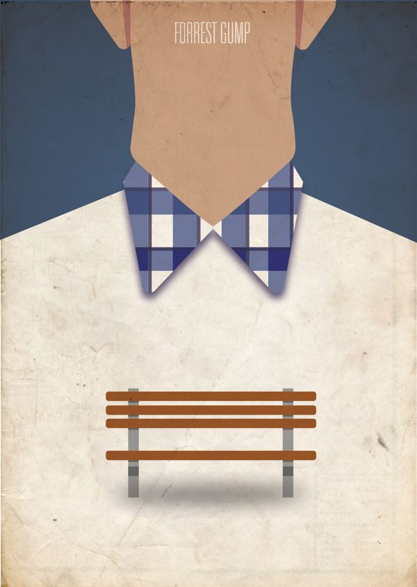 Forrest Gump (1994) ~ Minimal Movie Poster by Truica Madalin #amusementphile