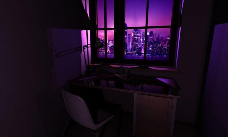 Night Escene Illumination with Maya 3D and Mental Ray