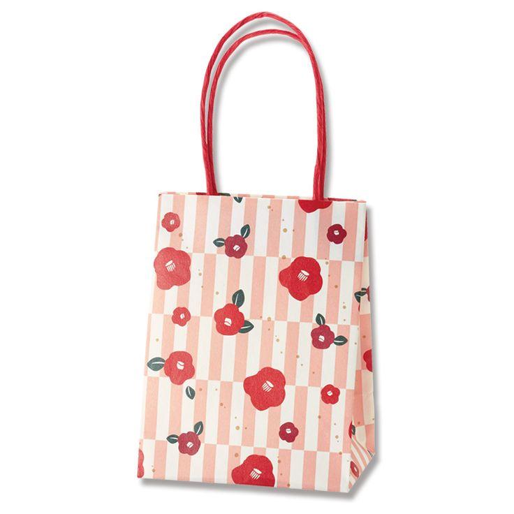 持ち手ありの可愛い紙袋のギフトバッグです。 プチギフトに最適な小さな紙袋です。