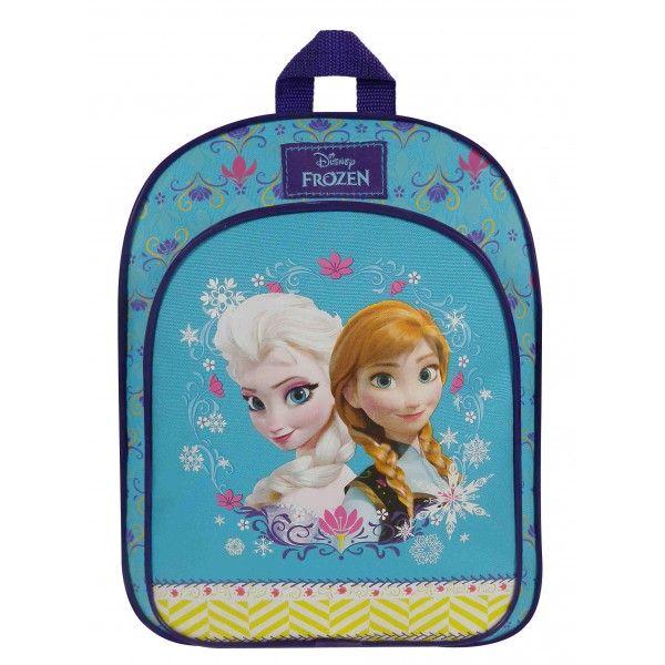 Lyseblå Frost rygsæk taske skoletaske til piger med søstrene Anna og Elsa fra Disney filmen frost