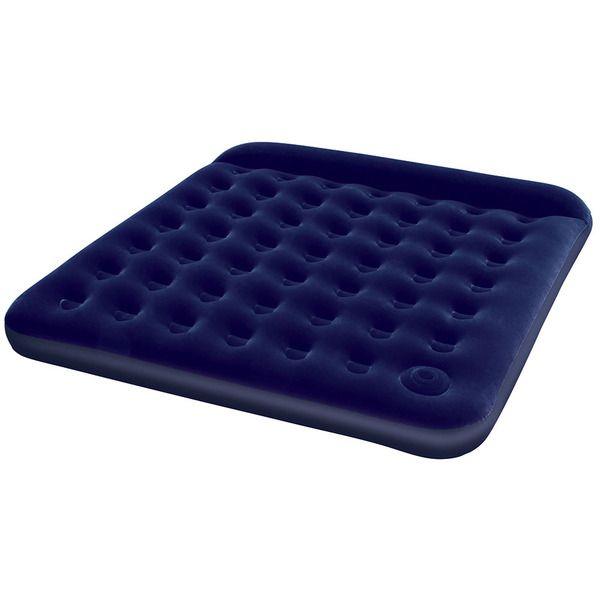 Bestway 67227N Кровать флок203х185х22см (синяя)(2)