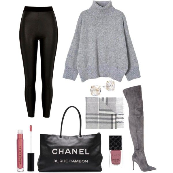 A fashion look from September 2017 featuring River Island leggings, Gianvito Rossi boots and Chanel tote bags. Browse and shop related looks.