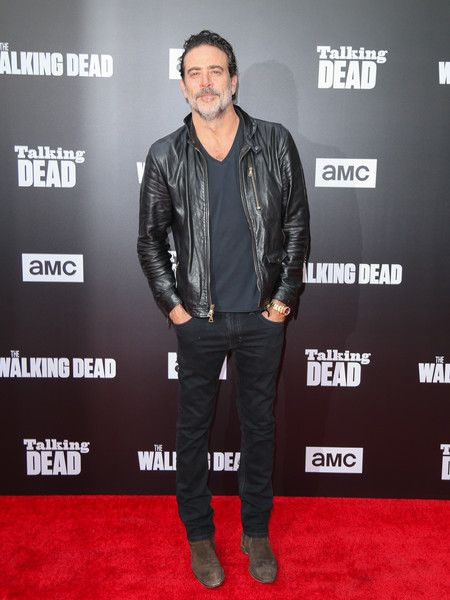 Jeffrey Dean Morgan is seen attending AMC 'Talking Dead Live' for the premiere of 'The Walking Dead' at the Hollywood Forever.