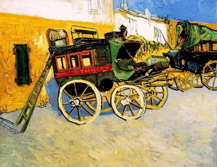 Vincent Van Gogh - Post Impressionism - Arles - La diligence de Tarascon - 1888