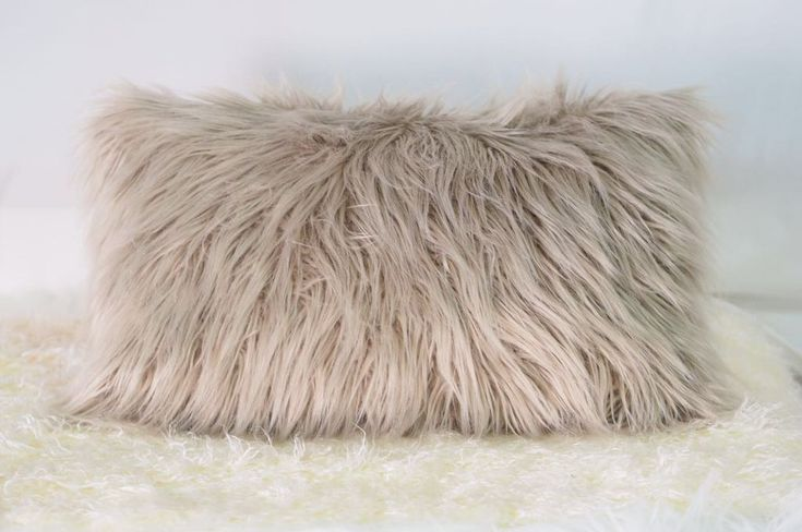 Fura Faux Fur Cushion - Pin for Inspo!