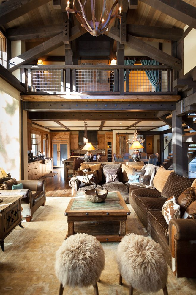 The scale of some barns can overawe the living spaces particularly, here it shows how warm and homely they can be.