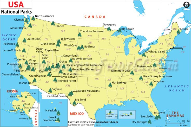 USA National parks. Lets try and go to all of them!